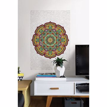 Picture of Paradise Mandala Coloring Wall Decals