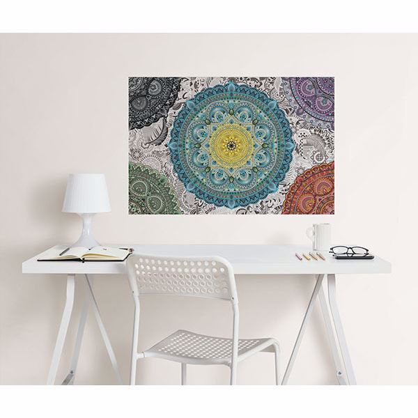 Picture of Shangri-La Mandala Coloring Wall Decals