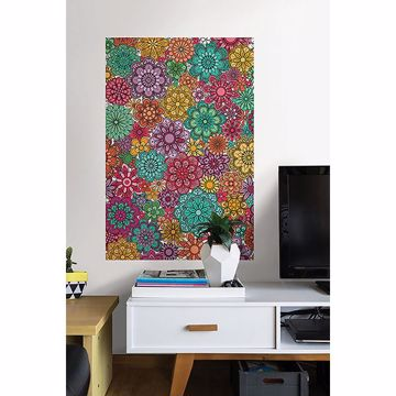Picture of Marigold Floral Coloring Wall Decals