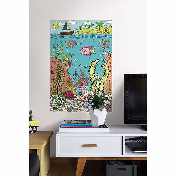 Picture of The Reef Coloring Wall Decals