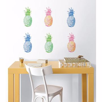 Picture of Pop Pineapples Wall Art Kit