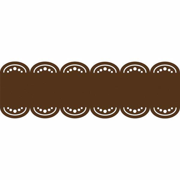 Picture of Espresso Brown Stripe Decal