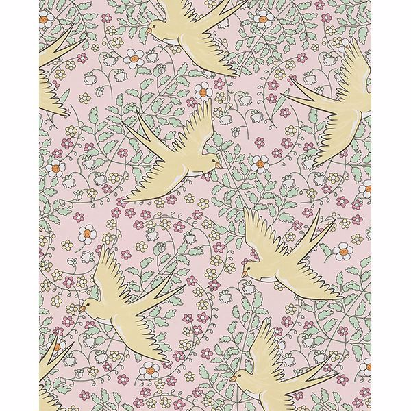 Picture of Cerina Pink Swallow Wallpaper