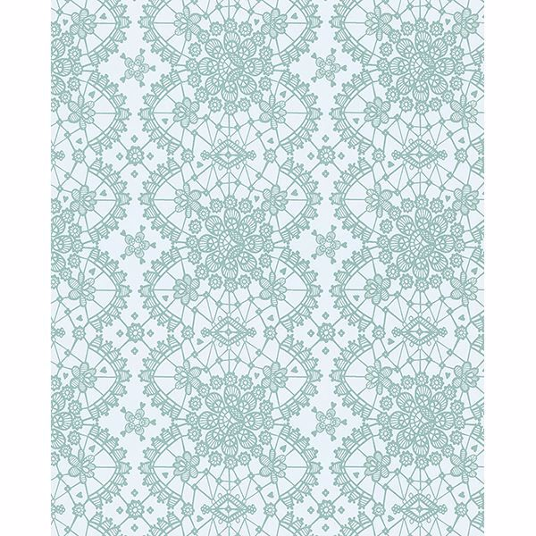Picture of Myte Mint Lace Wallpaper
