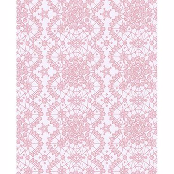 Picture of Myte Pink Lace Wallpaper