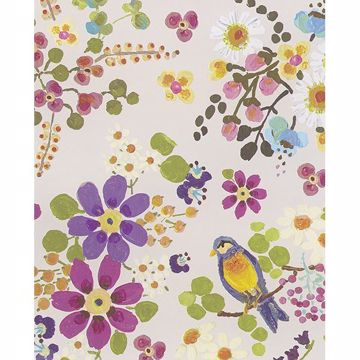 Picture of Freja Ecru Painted Florals Wallpaper