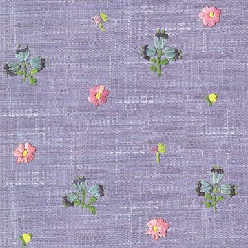 Picture of Gerda Pink Hand Embroidered Raffia Look Wallpaper