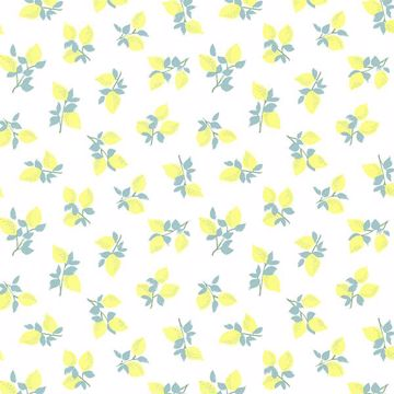 Picture of Citron Off-White Juicy Lemon Wallpaper