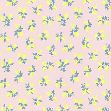 Citron Blue Juicy Lemon Wallpaper