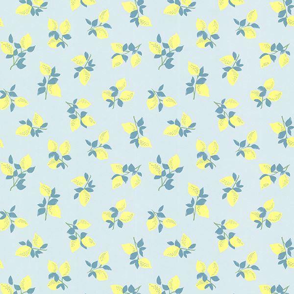 Citron Blue Juicy Lemon Wallpaper