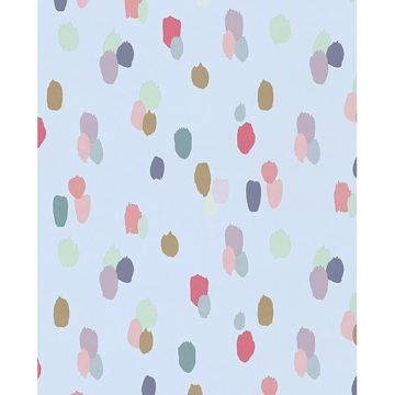 Picture of Amalie Light Blue Painted Dots Wallpaper