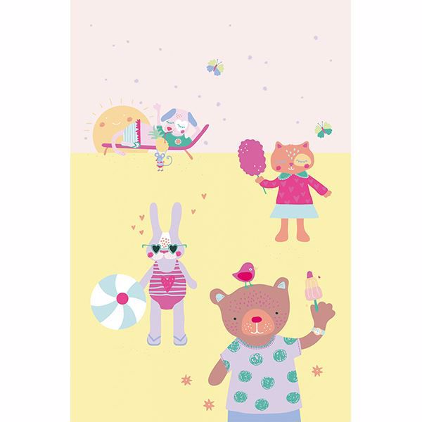 Picture of Girls On Holiday Wall Mural