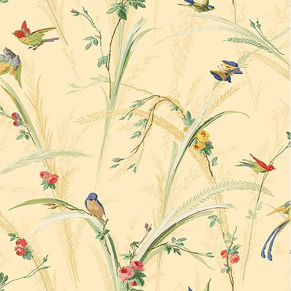 Picture of Pale Yellow Meadow Wallpaper