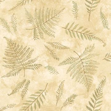 Picture of Neutral Textured Leaf Wallpaper