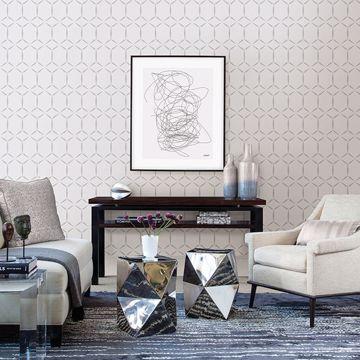 Picture of Fusion Dove Geometric Wallpaper
