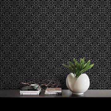 Picture of Element Black Mosaic Wallpaper