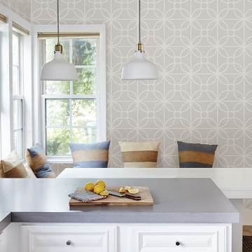 Picture of Savvy Neutral Geometric Wallpaper