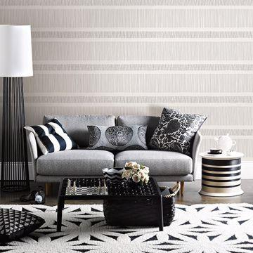 Picture of Gravity Grey Stripe Wallpaper