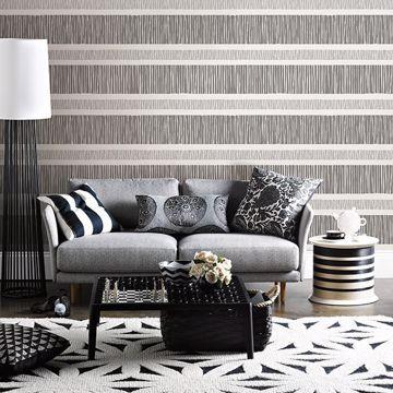 Picture of Gravity Black Stripe Wallpaper