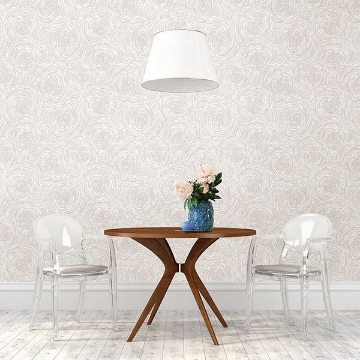 Picture of Celestial Taupe Floral Wallpaper