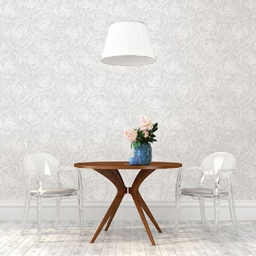 Picture of Celestial Grey Floral Wallpaper
