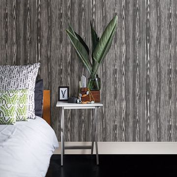 Picture of Illusion Black Wood Wallpaper