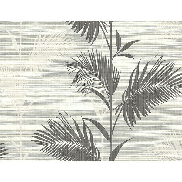 Picture of Away On Holiday Black Palm Wallpaper