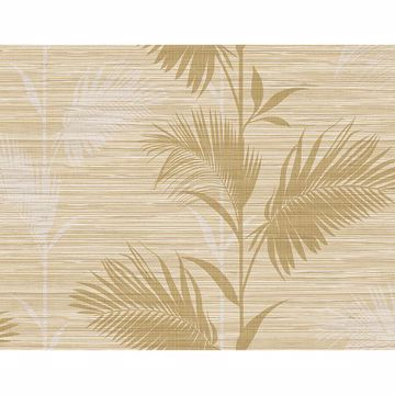Picture of Away On Holiday Beige Palm Wallpaper