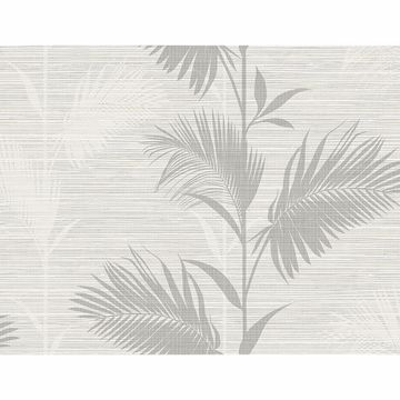 Picture of Away On Holiday Grey Palm Wallpaper