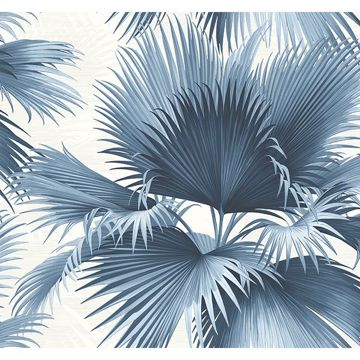 Picture of Endless Summer Blue Palm Wallpaper