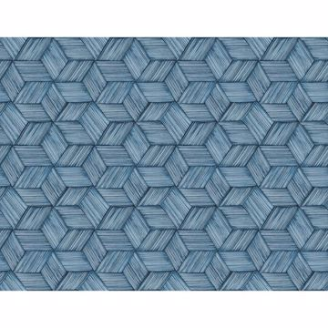 Picture of Intertwined Blue Geometric Wallpaper