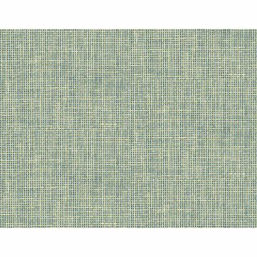 Picture of Woven Summer Green Grid Wallpaper