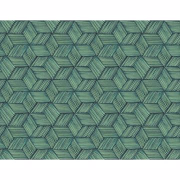 Picture of Intertwined Dark Green Geometric Wallpaper