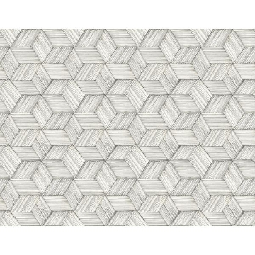 Picture of Intertwined Grey Geometric Wallpaper