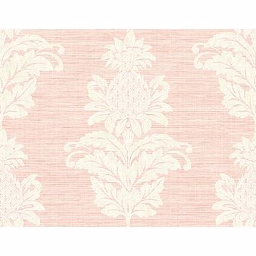 Picture of Pineapple Grove Pink Damask Wallpaper
