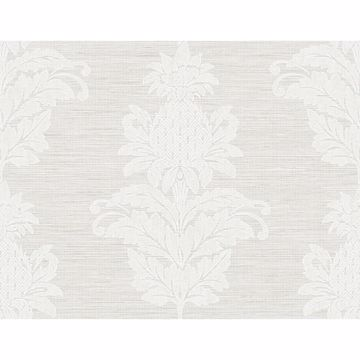 Picture of Pineapple Grove Grey Damask Wallpaper