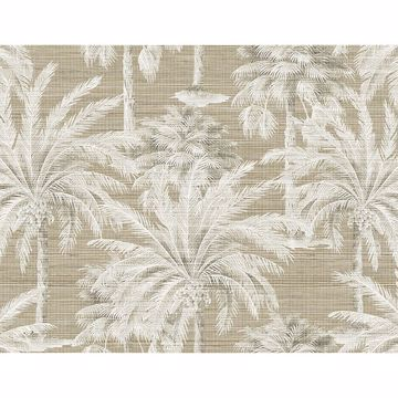 Picture of Dream Of Palm Trees Brown Texture Wallpaper