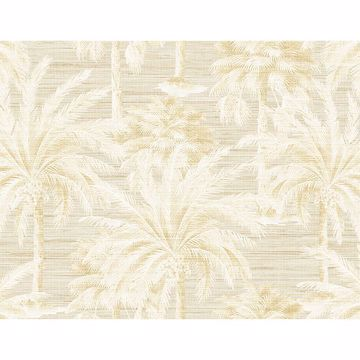 Picture of Dream Of Palm Trees Beige Texture Wallpaper