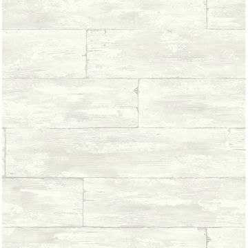 Picture of Shipwreck White Wood Wallpaper