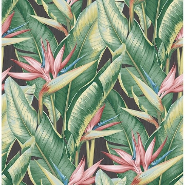 Picture of Arcadia Pink Banana Leaf Wallpaper