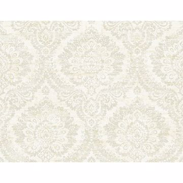 Picture of Kauai Taupe Damask Wallpaper