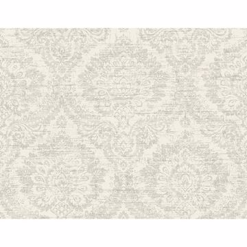 Picture of Kauai White Damask Wallpaper
