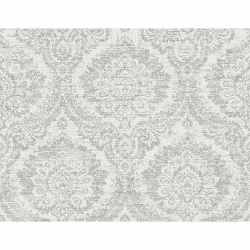 Picture of Kauai Grey Damask Wallpaper