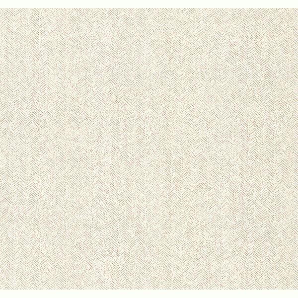 Picture of Hound Cream Herringbone Wallpaper