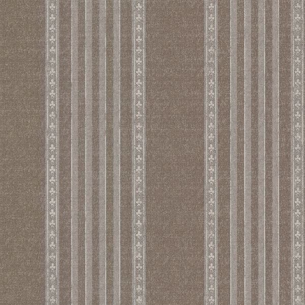 Picture of Adria Chocolate Jacquard Stripe Wallpaper