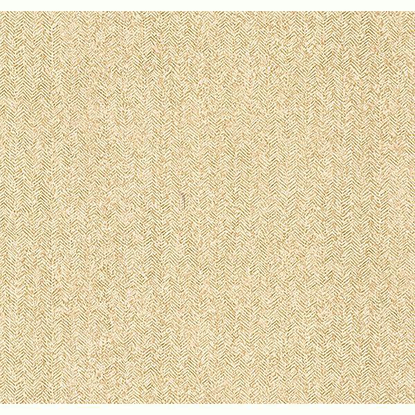 Picture of Hound Mustard Herringbone Wallpaper
