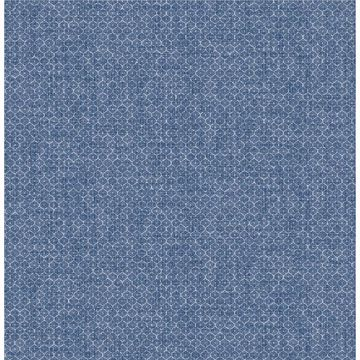 Picture of Hip Dark Blue Ogee Wallpaper