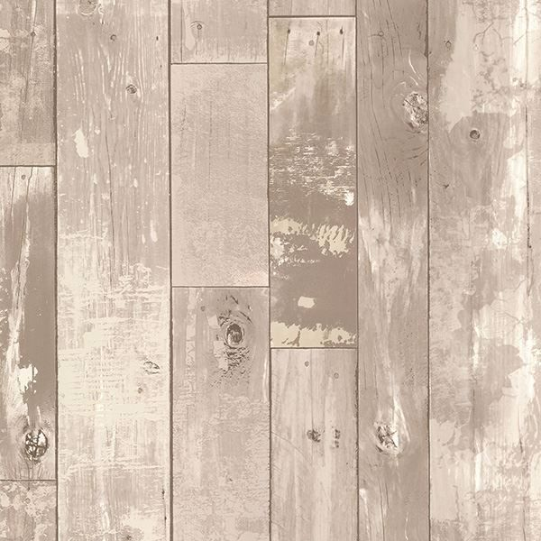Picture of Heim Grey Distressed Wood Panel Wallpaper