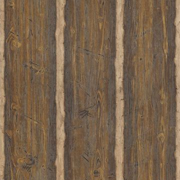 Picture of Log Cabin Brown Wood Paneling Wallpaper
