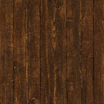 Picture of Timber Dark Brown Wood Panel Wallpaper